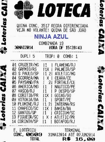 NINJA AZUL DO PEDRÃO - LOTECA 609