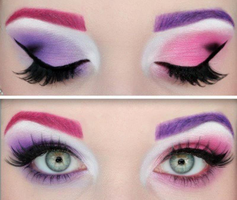 Stylish And Crazy Party Wear Eye Makeup - Pretty Halloween Eye Makeup