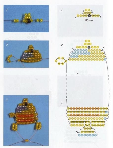 рыбка схема плетения