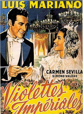 cartel de cine antiguo violetas imperiales
