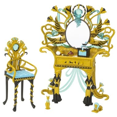 dolls collector club mobila monster high cleo de nile. Black Bedroom Furniture Sets. Home Design Ideas
