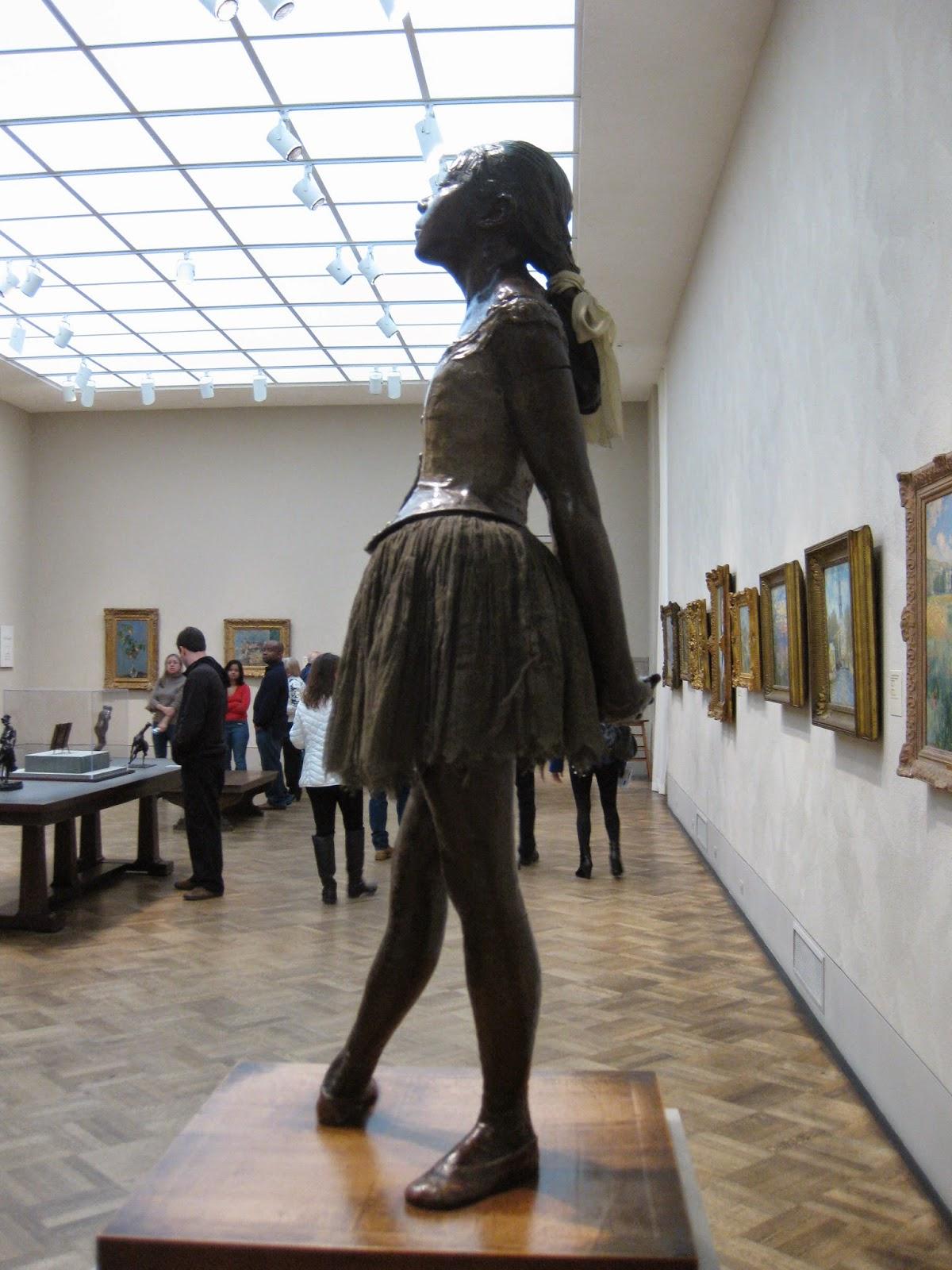 Degas ballerina statue, Philadelphia Museum of Art