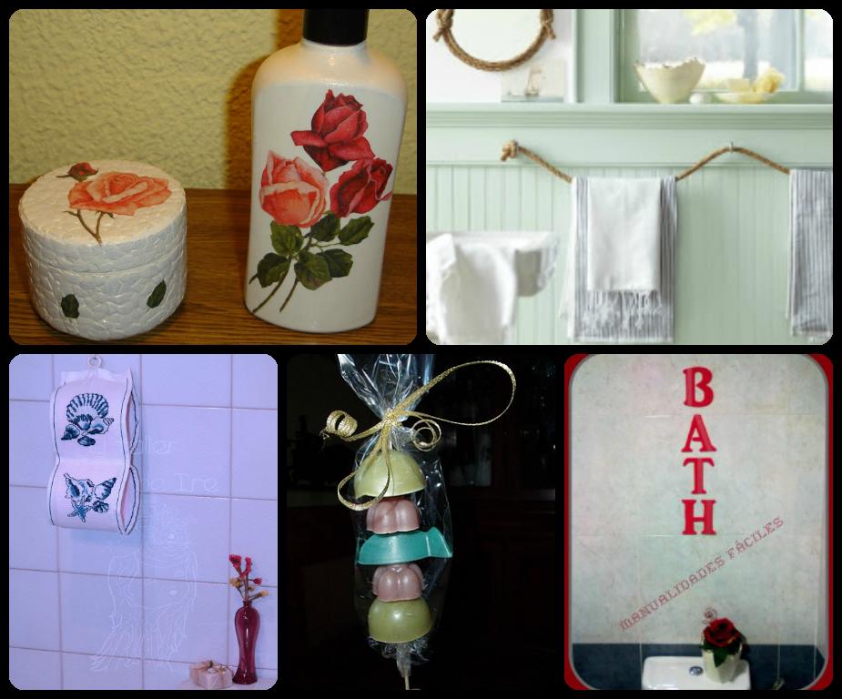 5 manualidades para decorar el cuarto de ba o el taller - Decorar el bano ...