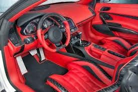 interior merah hitam hasil modifikasi