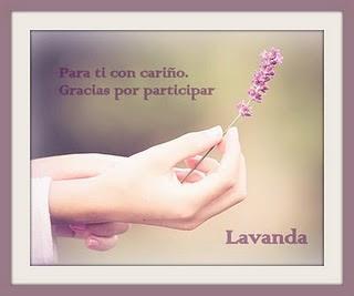 Gracias Lavanda!!!