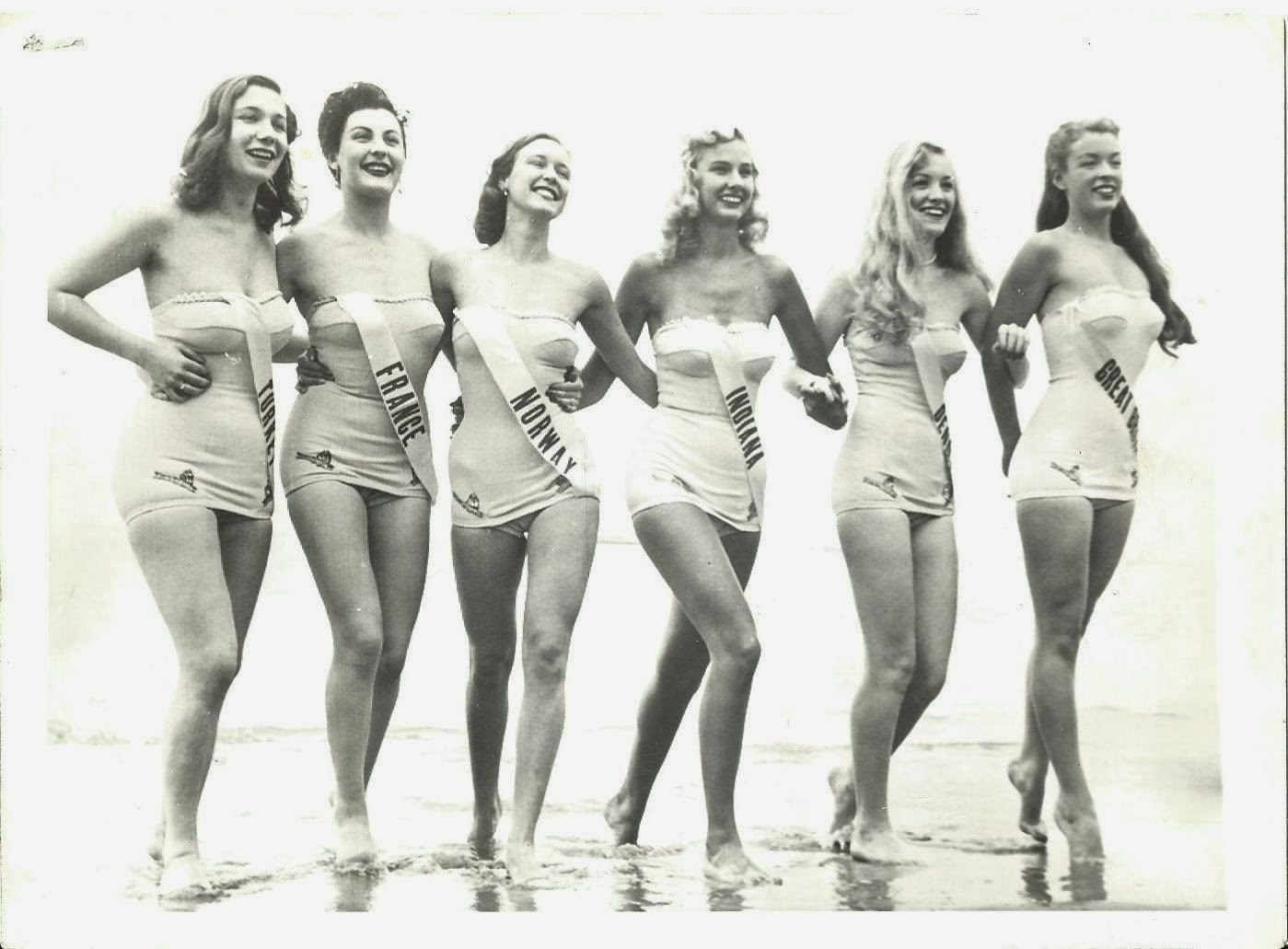 Miss Universe Contestants in Bathing Suits - Atlantic City, USA 1953