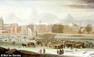 El Támesis helado, en 1684