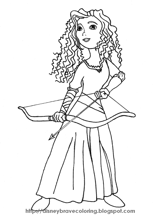 Coloring Pages Princess Merida : Brave merida coloring pages