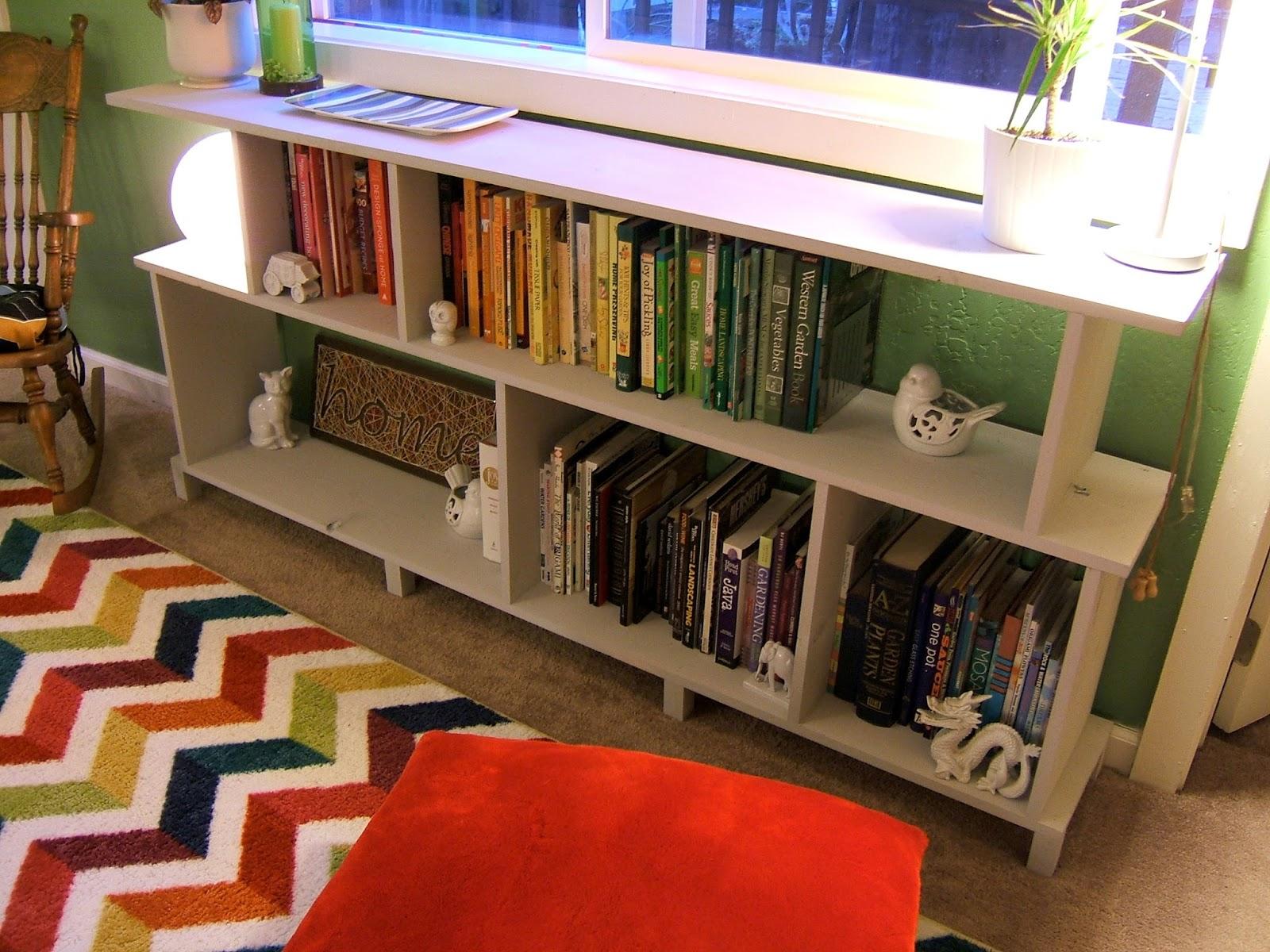 Nine red diy modern bookshelf for Diy modern bookshelf