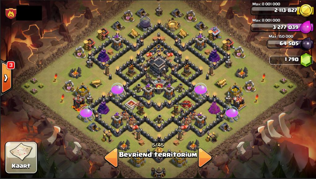 Cara Membuat BASE Terkuat dan Farming di TH 9 Game Clash Of Clans