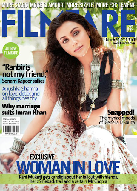 Rani Mukherjee Stills from Filmfare Magazine - April 2011