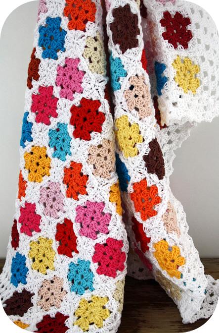 Crochet baby blanket colours