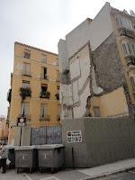 Málaga, solar resultado de demolición de edificio histórico en calle Fernán González 2 y calle Cisneros 9