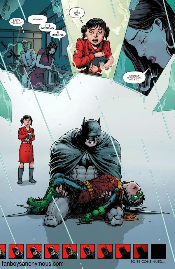 Robin Damian Wayne, son of Bruce Wayne and Talia Al Ghul killed in action