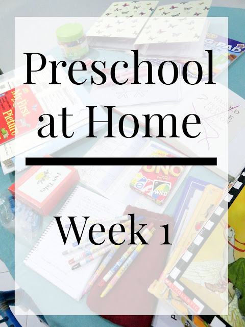 Homeschool Preschool Schedule