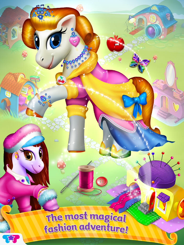 Pony Care Rainbow Resort: Enchanted Spa, Fashion Designer & Makeover Magic! App iTunes Google Play App By Kids Fun Club by TabTale - FreeApps.ws