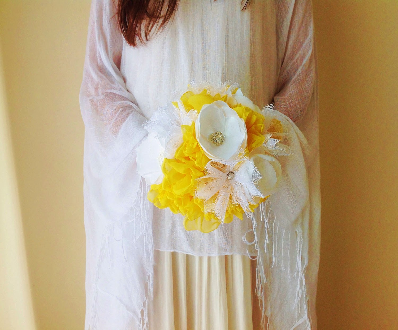 ramo de noiva amarelo