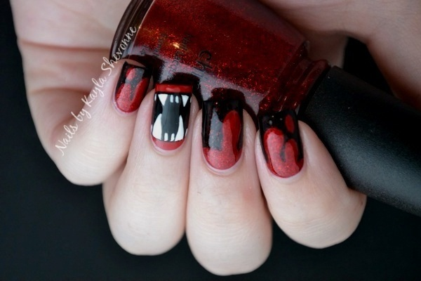 Nails by kayla shevonne halloween nail art vampire fangs halloween nail art vampire fangs prinsesfo Choice Image