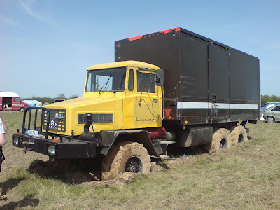 MOL 6X6 traveller truck seen at French teknival near Crucey in 2008