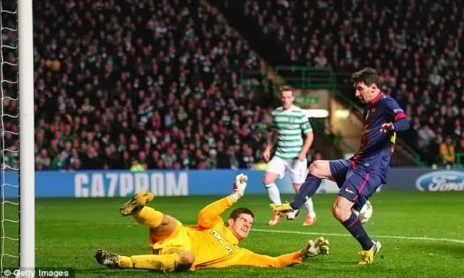 Celtic vs Barcelona without Lionel Messi