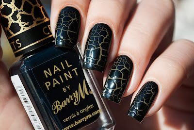 Barry M - Croc Nail Effect Black