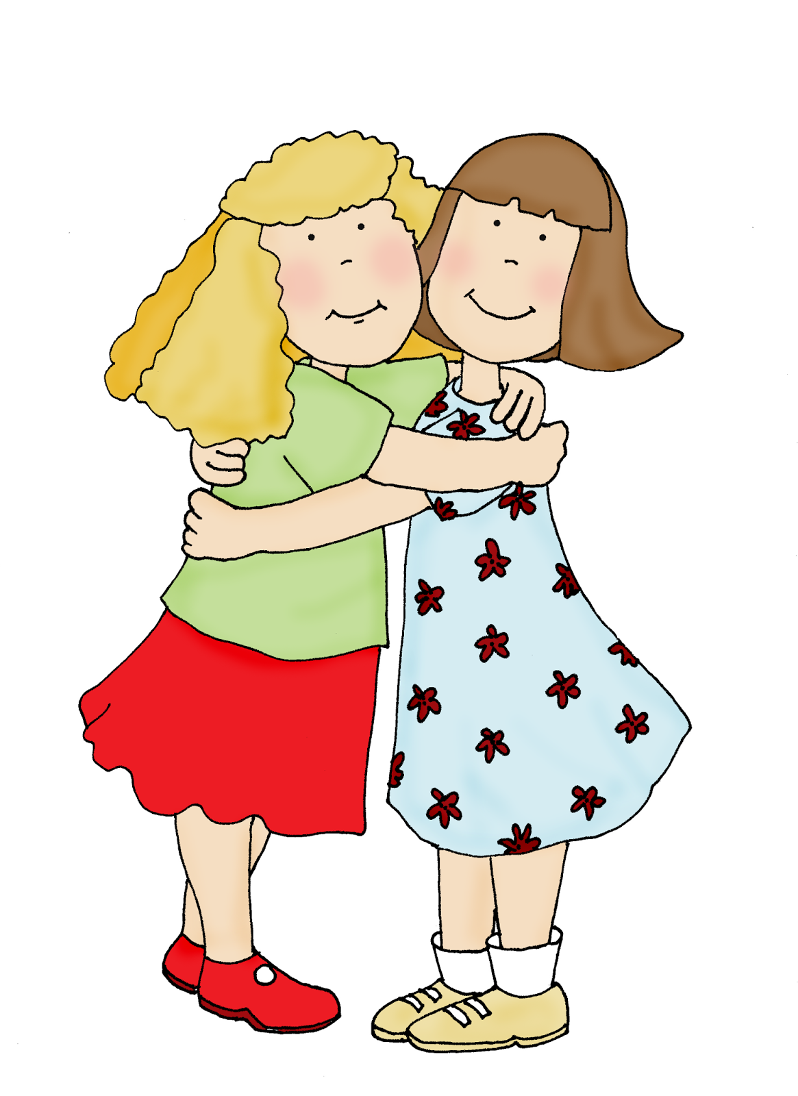 Two Sisters Kissing And Hugging Stock Photo  Image of