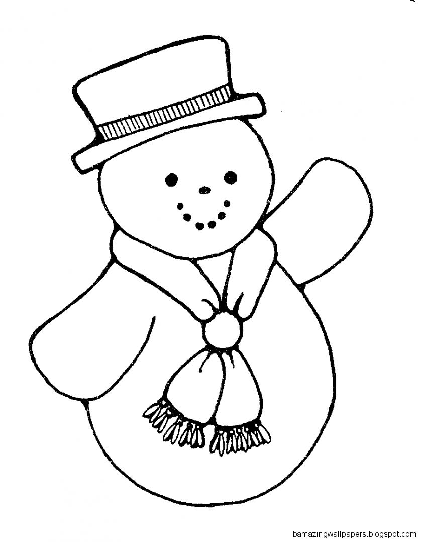 Snowman Black And White Clipart   Clipart Kid