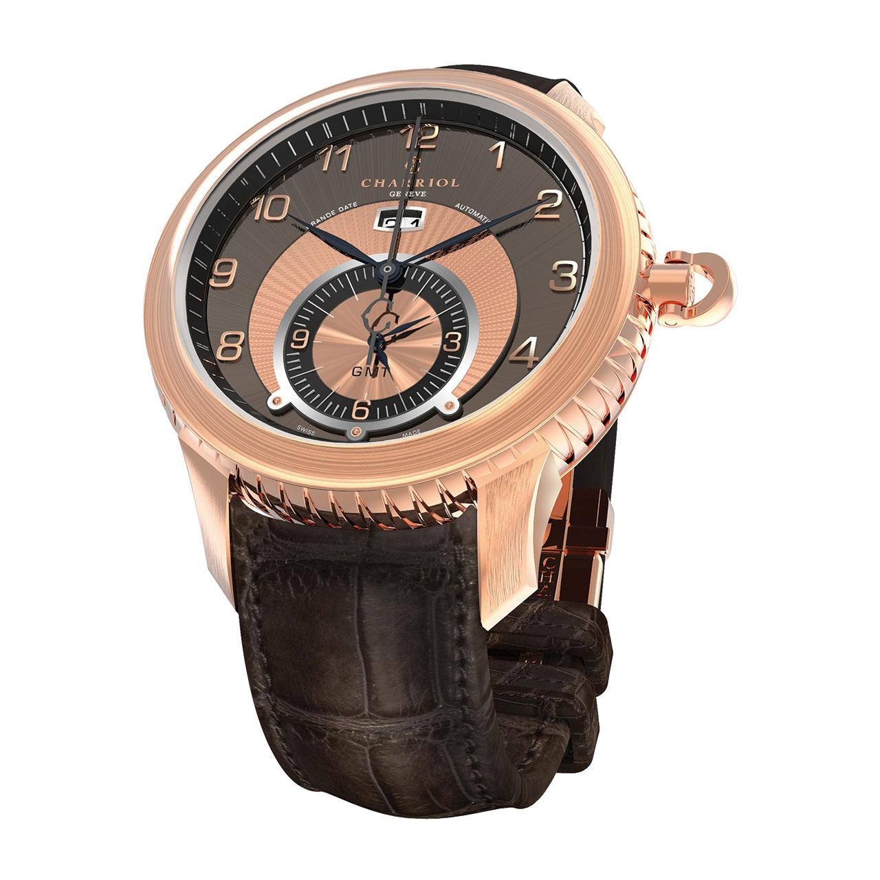 Charriol Colvmbvs™ Grande Date GMT Watch