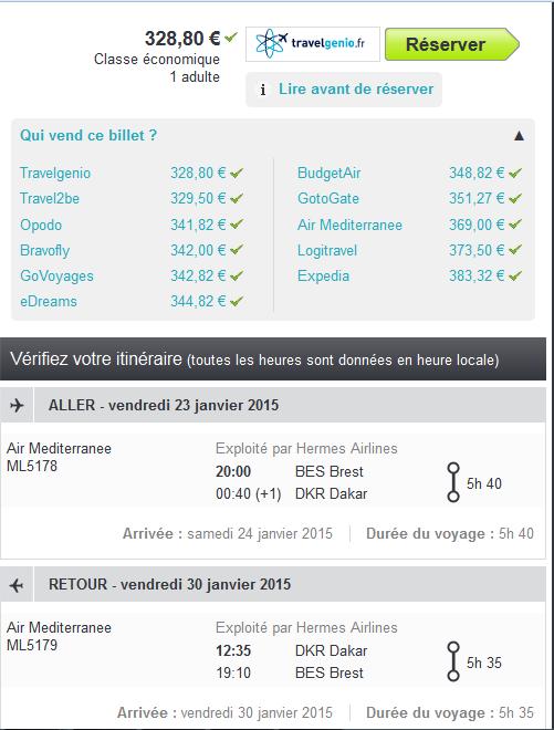 Vol low cost pour Dakar