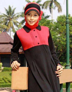 Zenitha Koleksi Busana Muslim Ukuran Big Size hitam merah