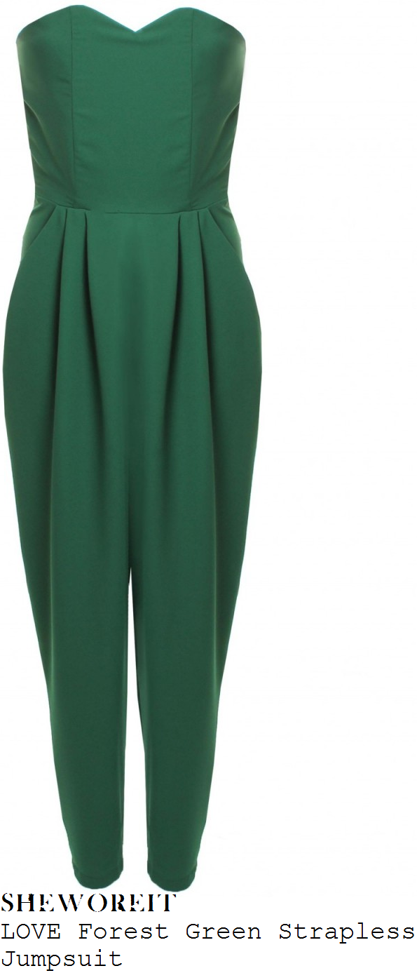 ashley-roberts-green-strapless-jumpsuit