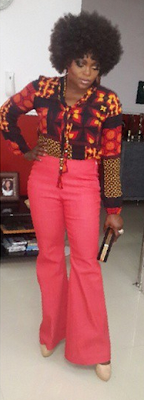 Actress Funke Akindele dazzles in 'old school' attire