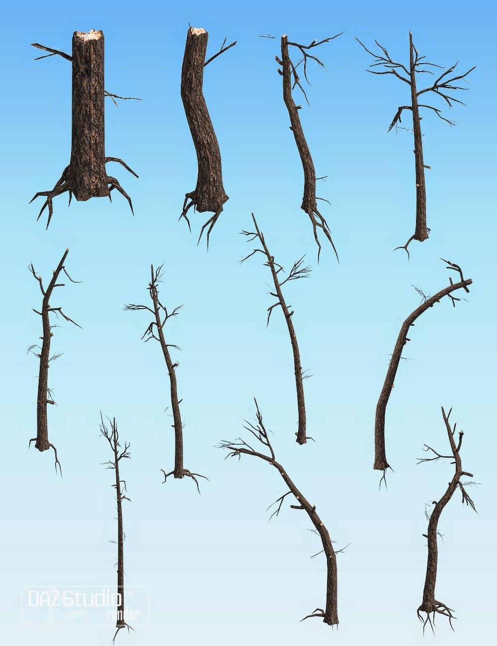 Nature - Broken arbres Pack 1