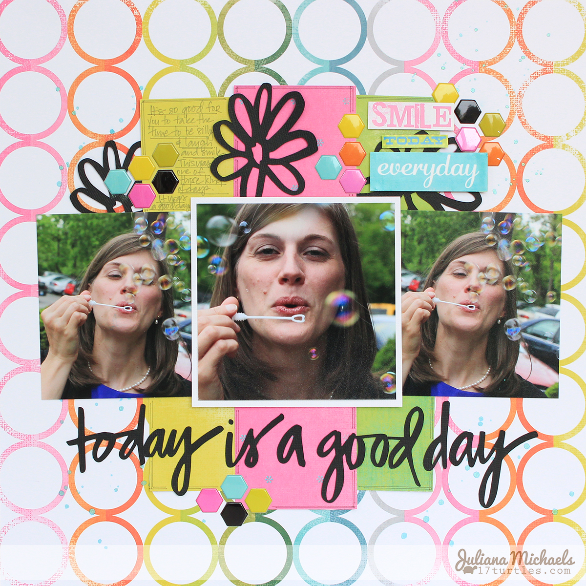 Today Is A Good Day by #julianamichaels #freedigitalcutfile #digitalcutfile #scrapbookpage