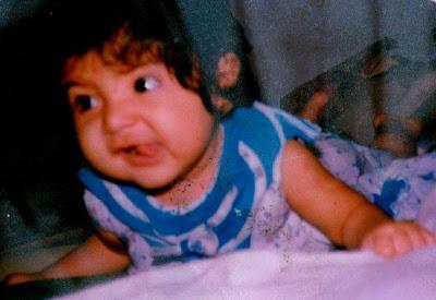 Anushka Childhood Photo as toddler