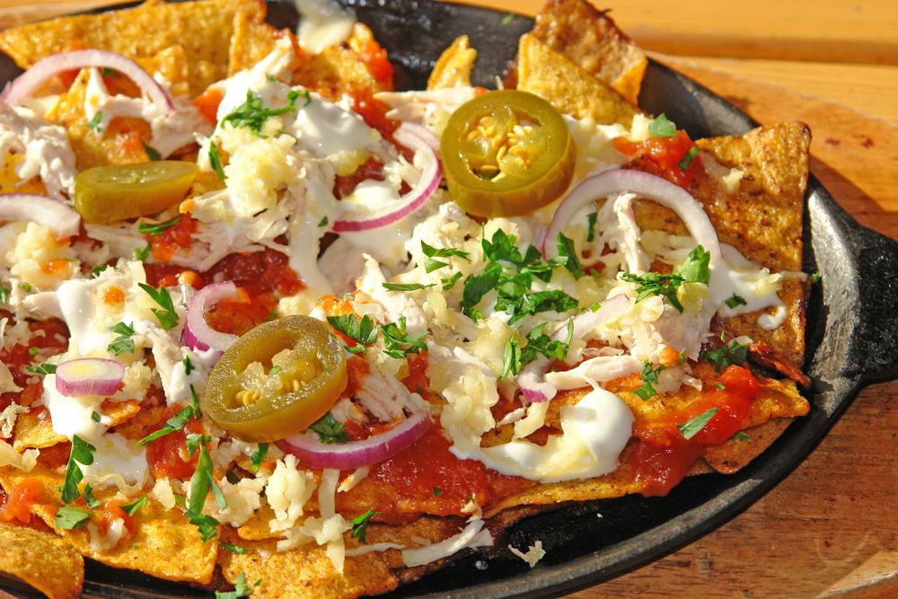 Nachos+con+Salsa+de+Miel,+Calabacitas+y+