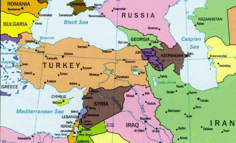 Turkey Map Political Regional Maps of Asia Regional Political City