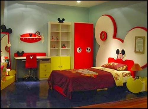 30 desain kamar tidur lucu konsep mickey mouse berbagi