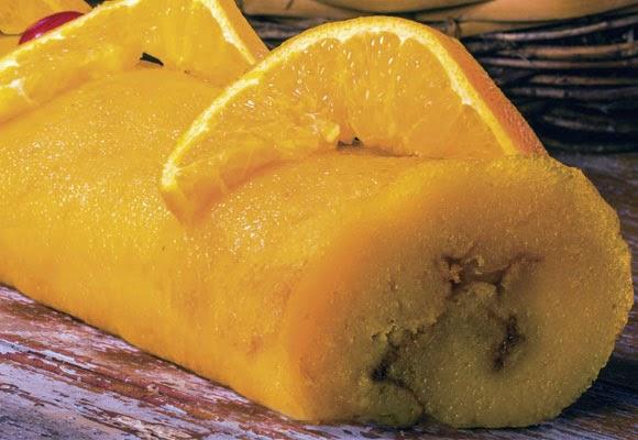Torta enrolada de laranja-lima light