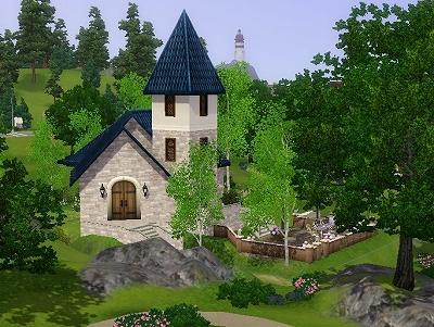 結婚式用の小さめの教会