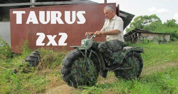La moto a trazione integrale russa (Taurus 2x2)