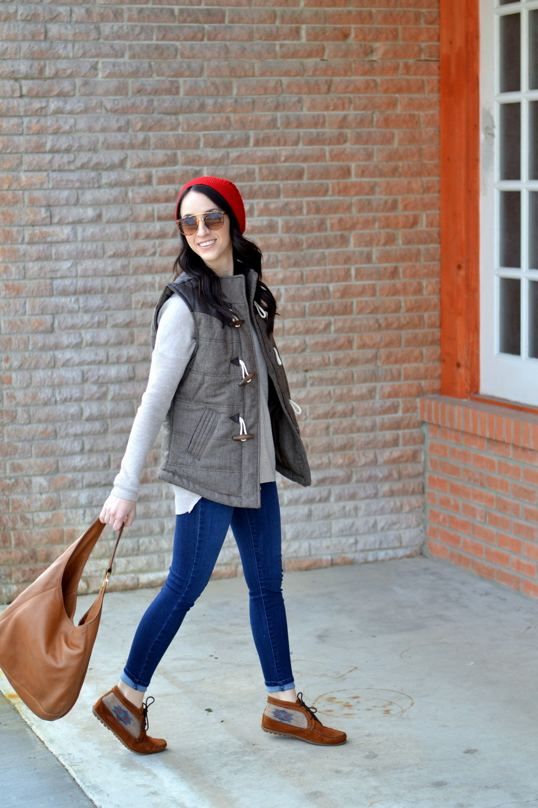 Styling a Beanie and Vest