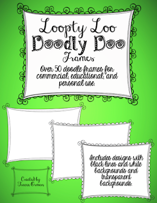 Doodle Clip Art for Commercial Use http://www.teacherspayteachers.com/Product/Loopty-Loo-Doodly-Doo-Clip-Art-Frames-Commercial-Use