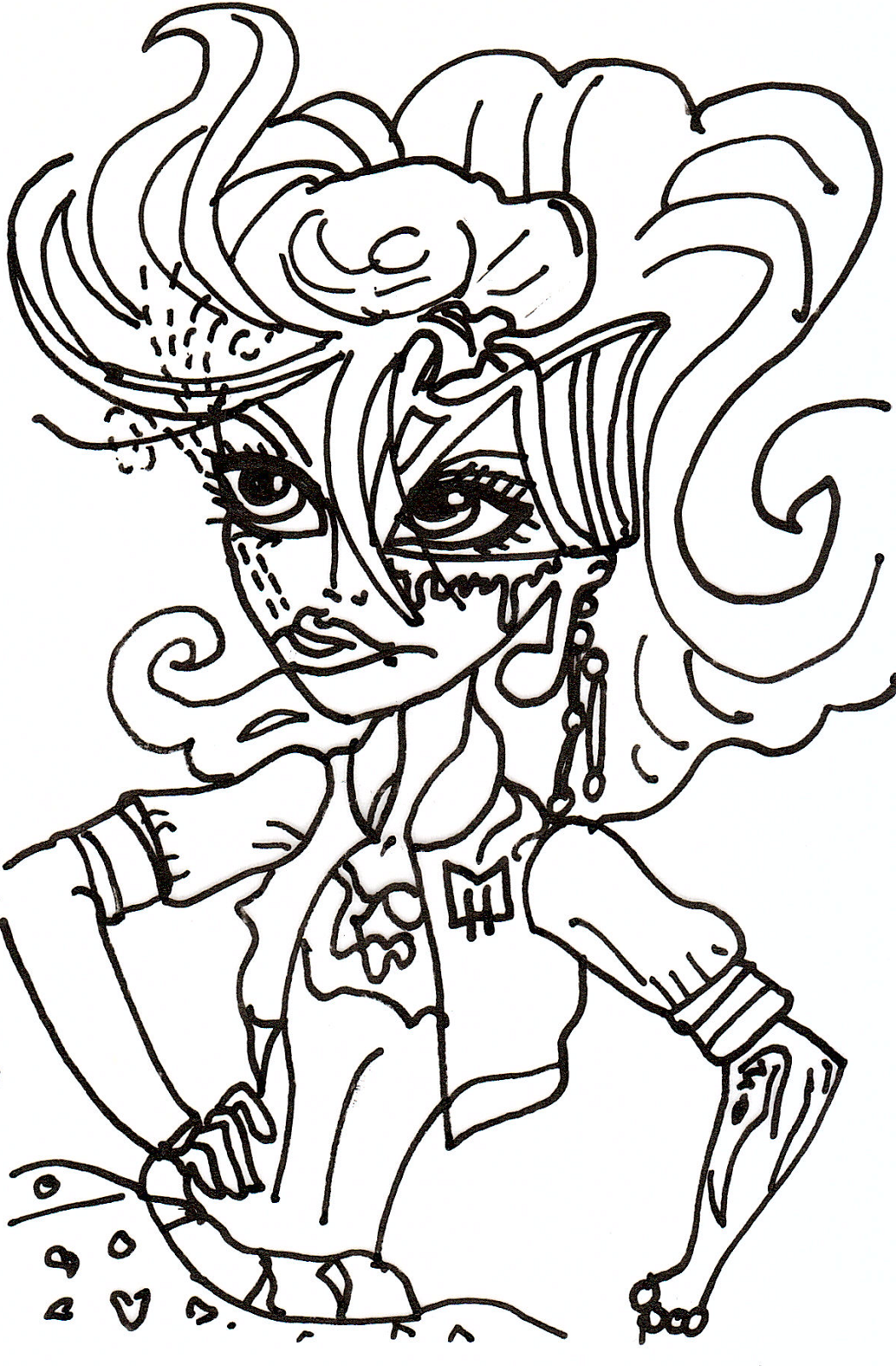 Free printable monster high coloring pages may 2013 for Operetta monster high coloring pages
