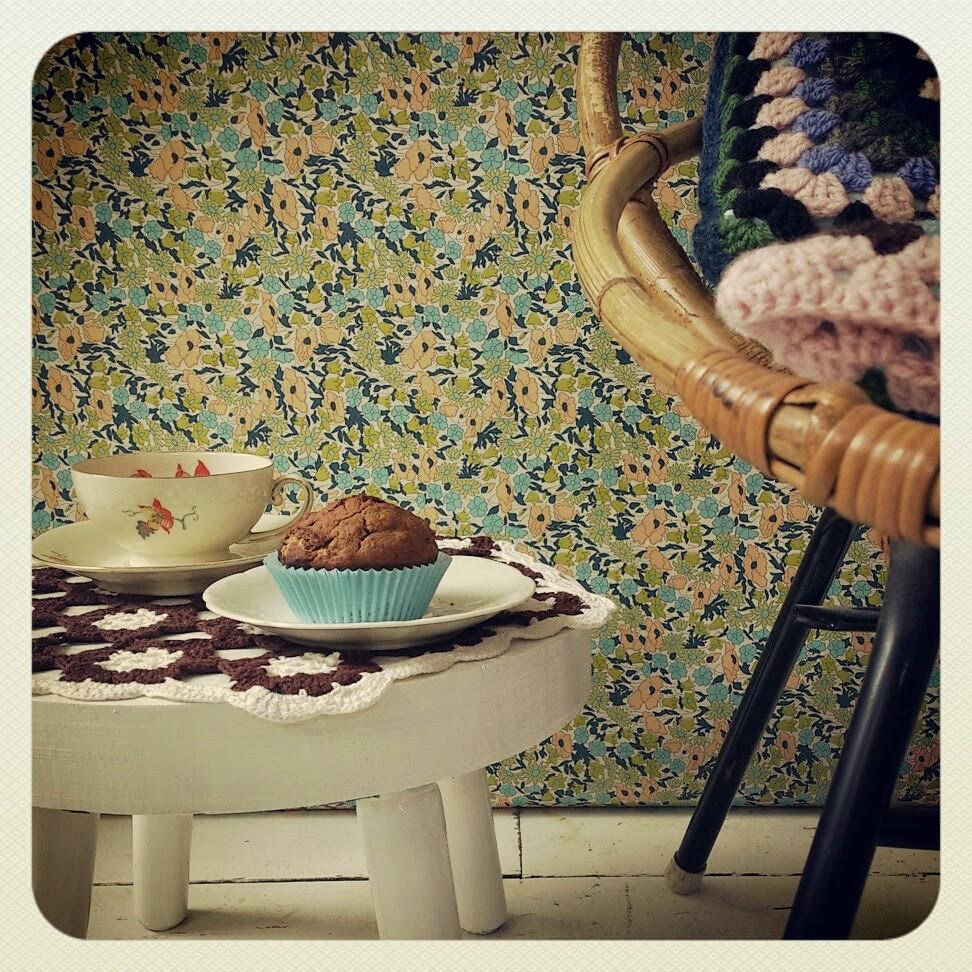 byHaafner, crochet, doily, vintage, granny square, vegan muffin