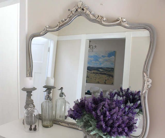 french painted ornate mirror lilyfield life