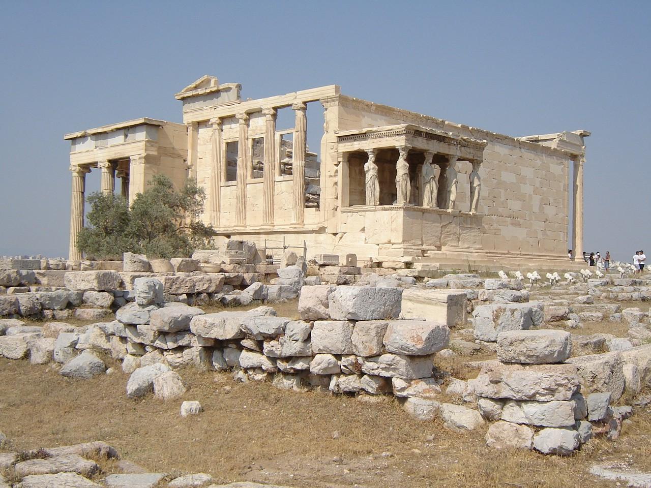 Art History The Erechtheion An Unusual Ancient Greek Temple