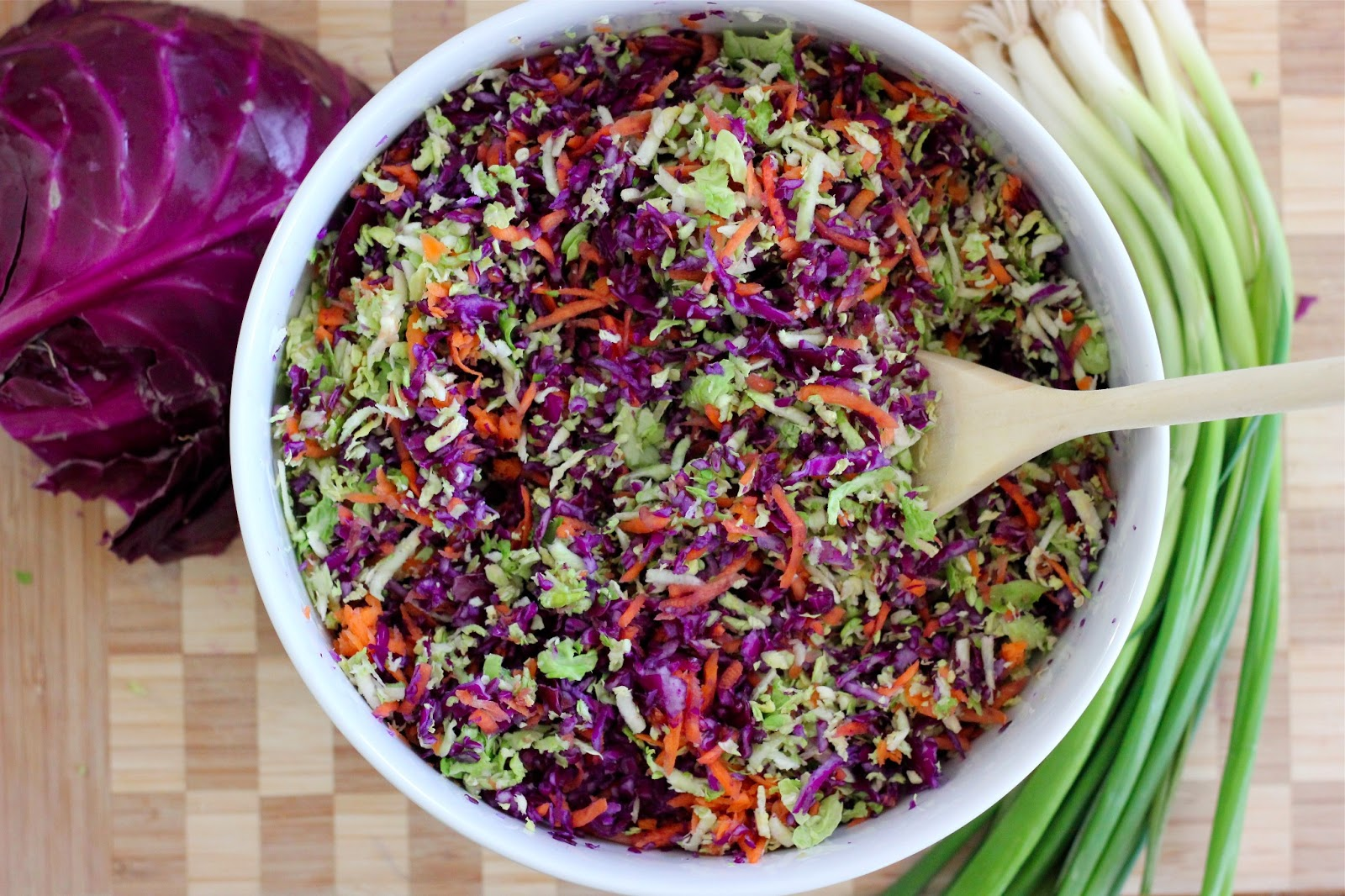The Lucky Penny Blog: Asian Purple Cabbage and Brussels ...
