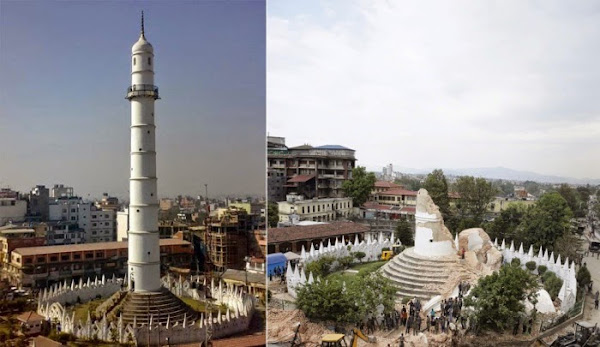 Nepal Pictures Before And After Earthquake Nepal Earthquake Before And