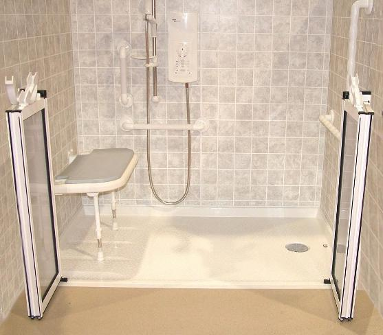Barrier jumps galleries barrier free shower for Barrier free home plans